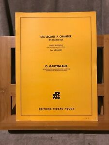 Odette Gartenlaub 10 lecons à chanter en clé de sol cours supérieur Rideau Rouge