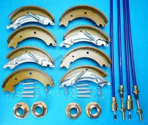 Twin Axle 200x50 Trailer Brake Shoes & Cables Kit for KNOTT HB510 IFOR WILLIAMS