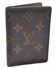 Auth Louis Vuitton Monogram Porte Carte Pass Vertical Pass Case M66541 LV A8919