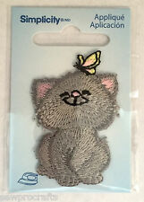 Kitten Iron On Embroidered Patch Motif Badge Applique Fabric Sewing Crafts