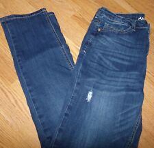 Almost Famous Junior Size 11 Skinny Stretch Jeans Ripped Distressed