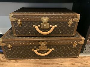 LOUIS VUITTON TRUNKS sold together - Alzer 70 M21226 and Bisten 50 M21328
