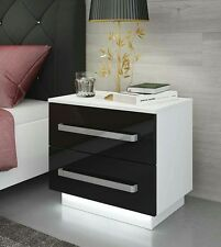 Bedside Cabinet / Table Rita  / Free LED !! / Bedroom Furniture / High Gloss