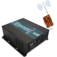 Pure Sine Wave Power Inverter 1500W 36V to 120/220V Off Grid Solar Remote Switch