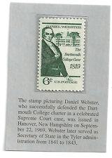 Vintage 6 cent stamp: Daniel Webster - Sep 22, 1969, Hanover, New Hampshire