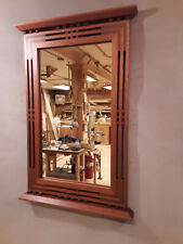 Handcrafted Arts & Crafts /Prairie Style Mirror Honduran and African Mahogany