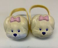 Mattel 1997 Vintage Cabbage Patch Kid Doll Shoes Puppy Dog Yellow HTF