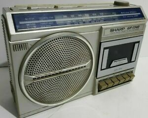 SHARP GF-1740 Vintage AM FM 2-Band Radio & Recorder w/ Box, Manual READ DESCRIPT