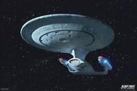 Star Trek The Next Generation USS Enterprise TV Show Poster Poster - 12x18