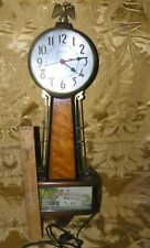 Vintage Sessions Banjo electric Clock WORKS! Eagle Finial~George Washintons Home