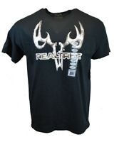 REALTREE Men T Shirt L XL XXL American Hunting Deer Buck Logo Camo Tee Black NEW