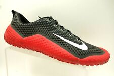 Nike Free Trainer 1.0 Black Red Lace Up Running Training Shoes Men's 12.5
