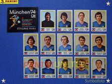 Panini★WM 1974 WorldCup WC 74★Team Jugoslawien komplett / Jugoslavija complete