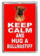 "Bullmastiff Dog Fridge Magnet ""KEEP CALM AND HUG A BULLMASTIFF"" by Starprint"