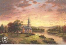 Thomas Kinkade SUNRISE CHAPEL Dealer Promo Postcard..OOP..Discontinued..NLA