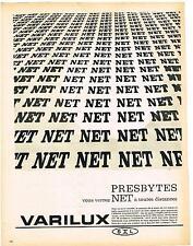 PUBLICITE ADVERTISING   1962   VARILUX  lunettes