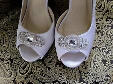 Shoe Clips Wedding Bridal Swarovski Crystal Beaded Shoe Clips