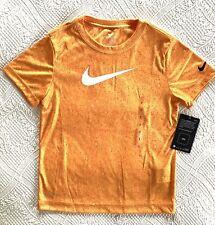 NWT NIKE Boys Dri-Fit T-Shirt Bright Orange Short Sleeve Size 7