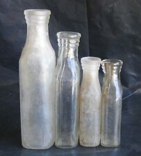 VTG 4 Quality Purity bottles bubbles cork top Apothecary Rx Pharmacy