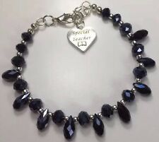 Bling Beaded Charm Bracelet, Choose Your Own Charm, Personalized Gift