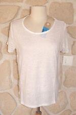Tee-shirt  blanc chiné neuf taille M marque NOT SHY avec soie étiqueté à 79€