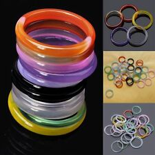 5Pcs Wholesale Assorted Agate Band Ring Natural Gemstone Rings Fashion Jewellery
