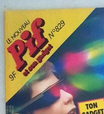 RARE VINTAGE FRENCH COMICS CARTOON MAGAZINE - PIF GADGET #829 (CIRCA 1985)