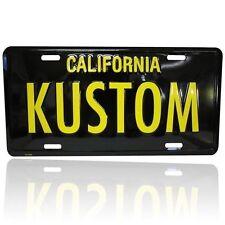 KUSTOM CALIFORNIA LICENSE PLATE BLACK YELLOW CUSTOM LOWRIDER BOMB VTG STYLE YOM