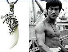 Mens Stainless Steel Titanium Pendant leather Necklace Retro