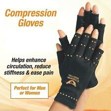 1 pair Men Women Black TV Copper Hands Arthritis Gloves Therapeutic Compression