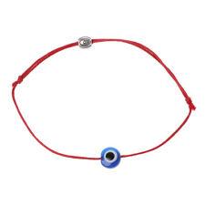 Blue Evil Eye String Kabbalah Bracelet Jewish Amulet Protection Lucky Jewelry