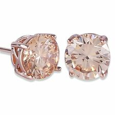 Royal Journey Jewelry Eternity Stud Earring Gulicx Rose Gold Tone Yellow Crystal