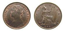 Great Britain 1887 Farthing S-3958 AU+  4978