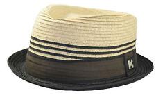 Upturn Diamante Corona Cappello Pork Pie Fedora Carta Paglia Grande 3f3d9096e1ac