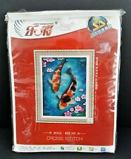 Light Cross Stitch 3D Koi Fish Japanese Instructions Kit D1328 Red Blue Opened