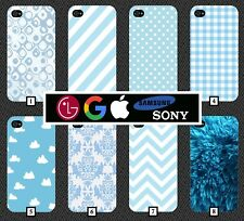 Blue Pattern Phone Case Cover Baby Light Design Style Dotted Clip On Case 8
