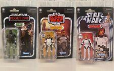 Star Wars Vintage Collection Stormtrooper Luke, Clone Commander Wolffe  & K-2SO