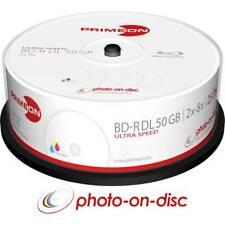 Blu-ray bd-r dl vergine 50 gb primeon 2761319 25 pz torre stampabile