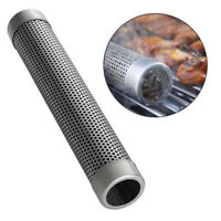 Smoker Bbq Tube PelletStainless Steel Grill Smoke Pipe Wood Cold Hot Mesh Tools