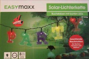 EASYmaxx Solar-Lichterkette Buchstaben 57-tlg