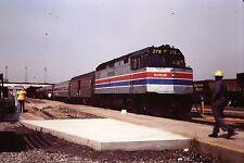 35mm Orig Slide AMTRAK 278 Palmetto in Florence SC 1981 Railroad Train Estate