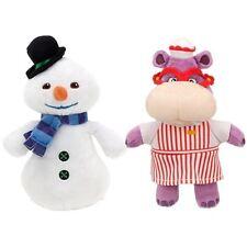Disney Jr Doc McStuffins Chilly Snowman & Hallie Hippo Plush Doll Soft Toy 2pcs