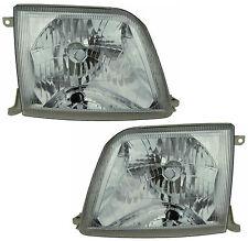 Pair of Headlights Toyota Prado 07/99-08/02 New ZJ95 Series 2 99 00 01 02 Lamps