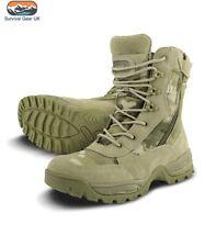 Multicam Recon Spec Ops Tactical Boots Dual Side Zip Cadet Airsoft 1000D Cordura