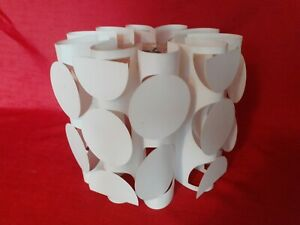 STUNNING RETRO 1960/70s WHITE PLASTIC LAMP SHADE...GOOD RETRO DESIGN