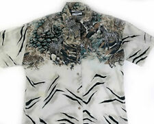 Best Blouse Co African Safari Short Sleeve Button Up Top, Multicolor Size S 8/10