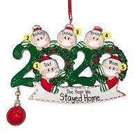 2020 Xmas Christmas Santa Claus Hanging Ornaments Charm Family Decoration + Pen