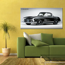 1957 MERCEDES 300SL GULLWING CLASSIC CAR LARGE HIGH DEFINITION POSTER 24x48in
