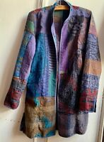 Stunning Colourful Reversible Indian Kantha Quilted Hand Block Printed Jacket