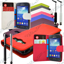 Housse Etui Coque Portefeuille Cuir Pour Samsung Galaxy Trend Lite S7390 / S7392